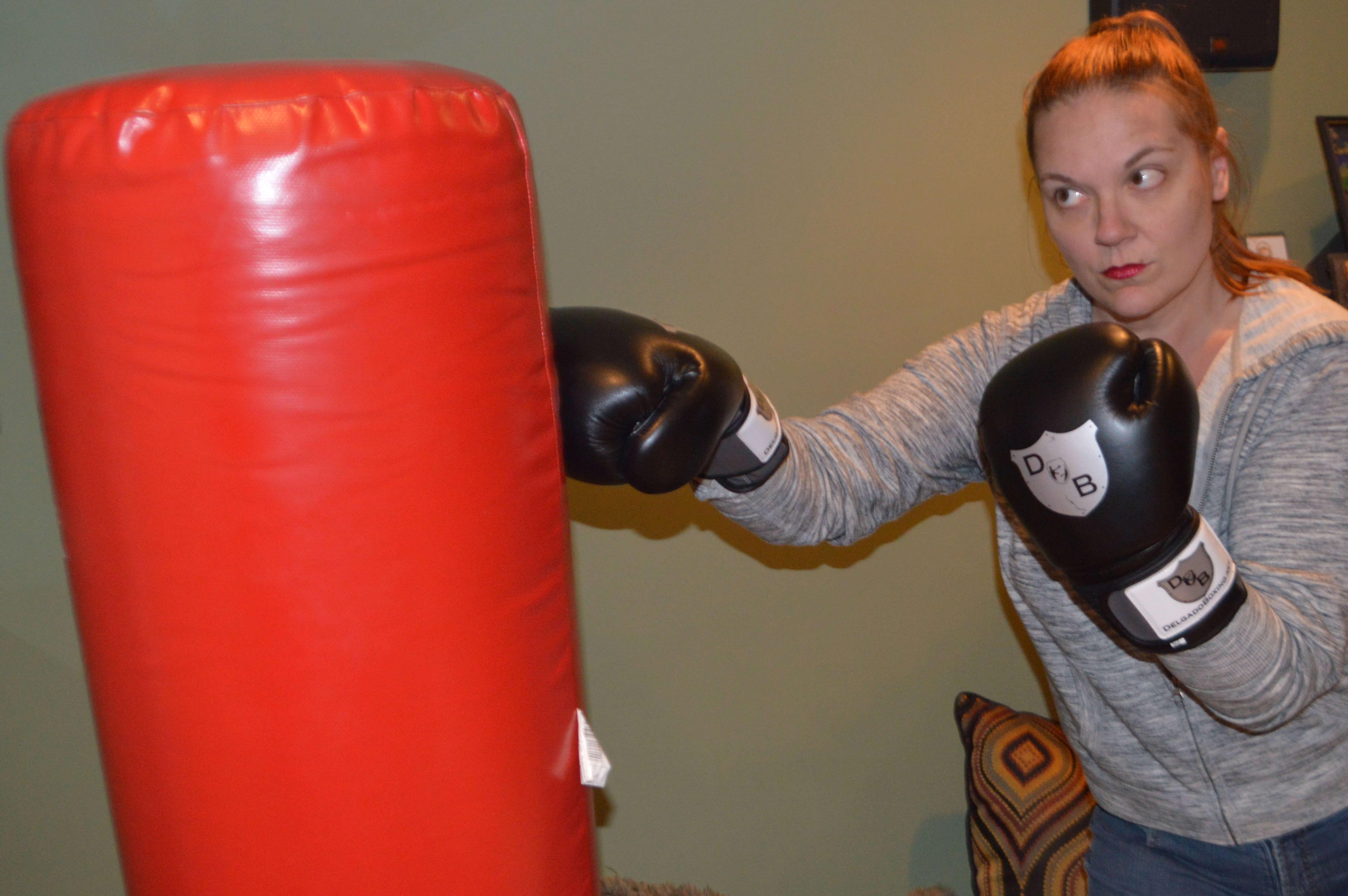 Carole Ann Webb boxing