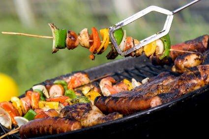 grilling vegs+meat
